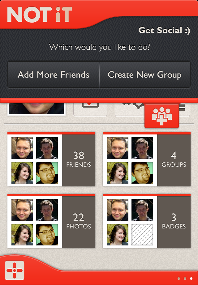 Not iT Add Friends and Create a Group