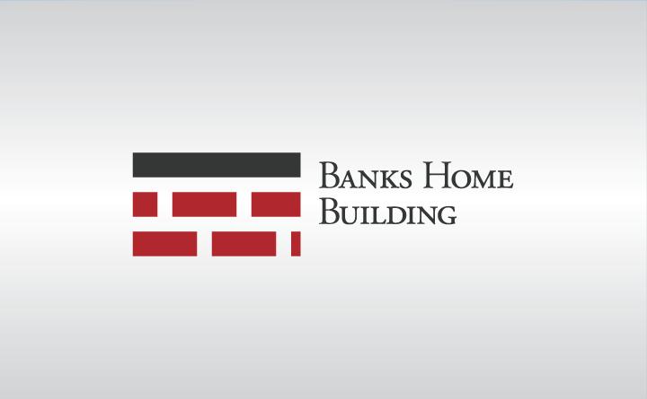 Banks Home Building Logo Side Lock-up