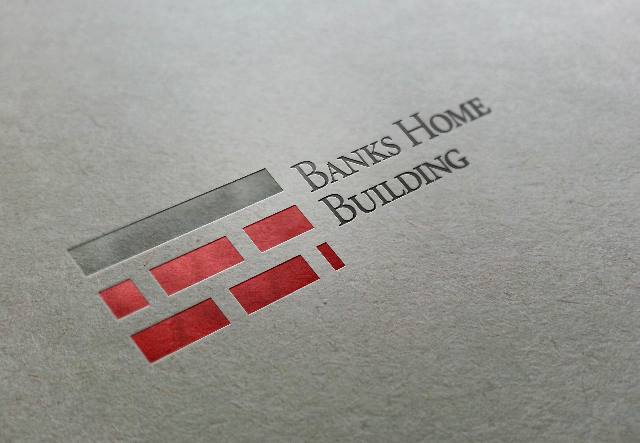 Banks Home Building Logo on Stationery