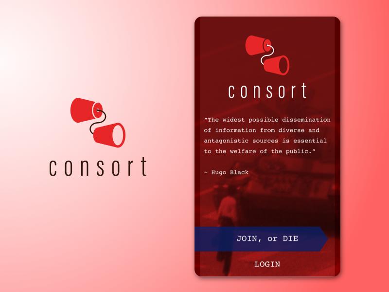 Consort Login Page Design