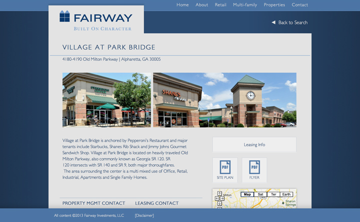 Fairway Property Detail Page