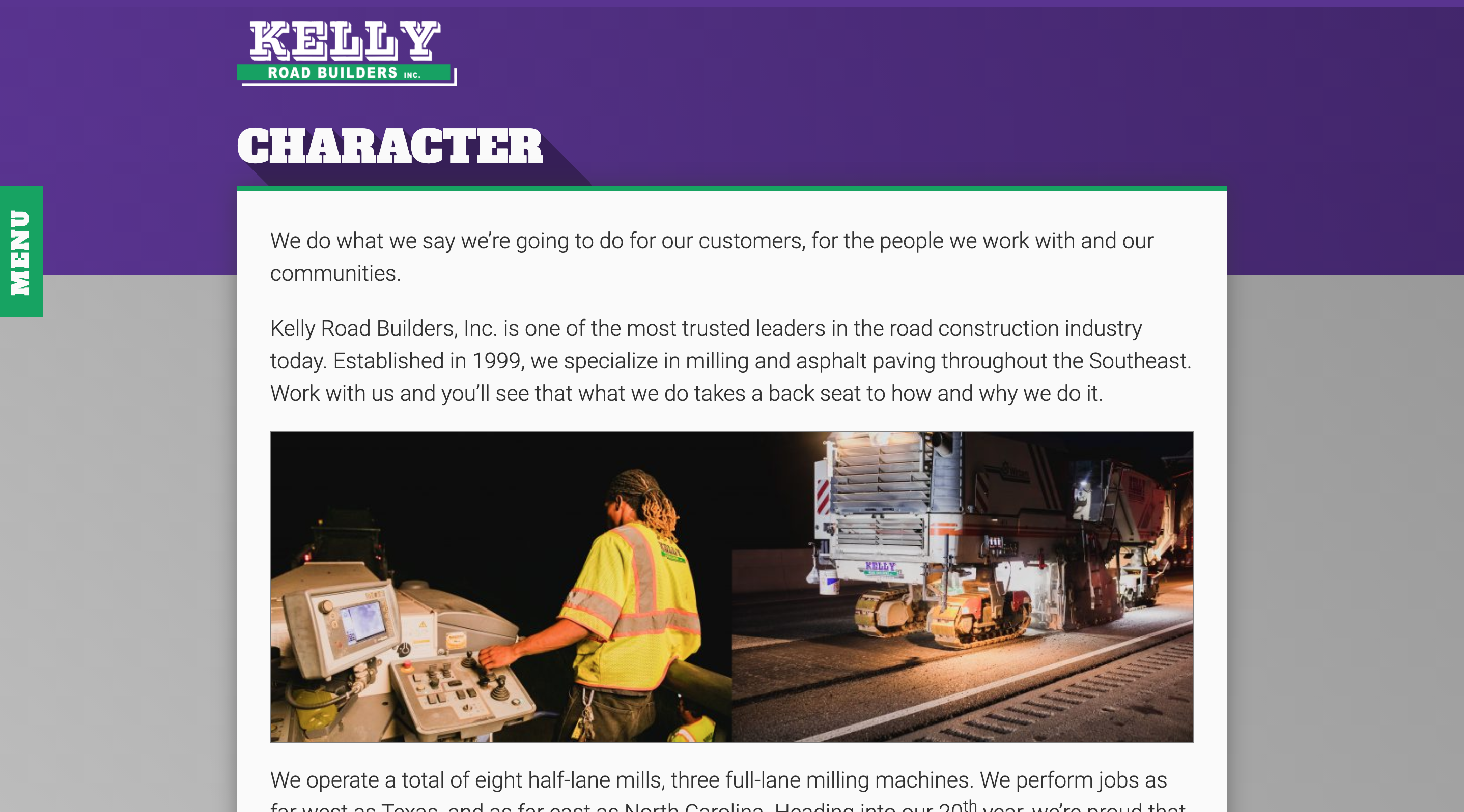 Kelly Road Builders Character Page