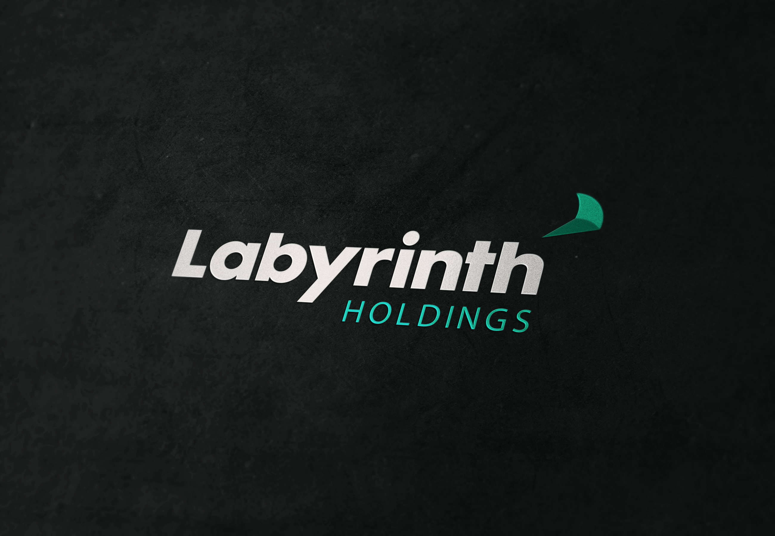 Labyrinth Holdings logo on felt.