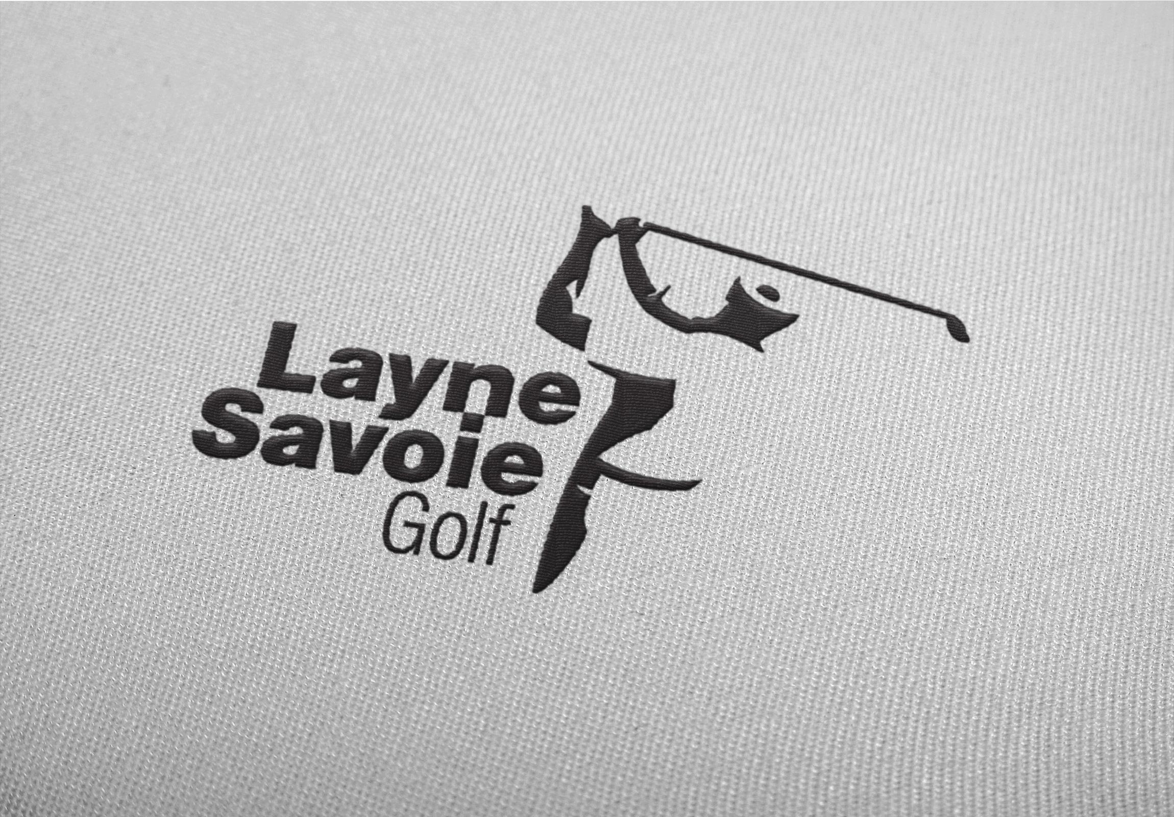 Layne Savoie Golf logo embroidered.