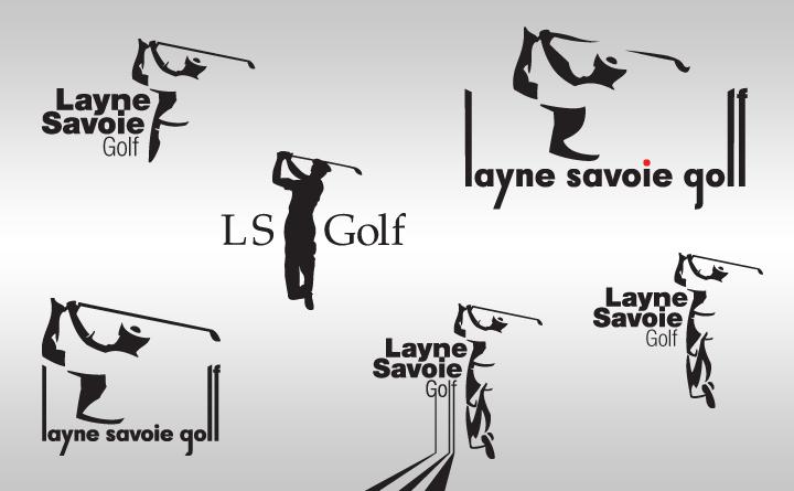 More Layne Savoie Golf logo exploration designs.