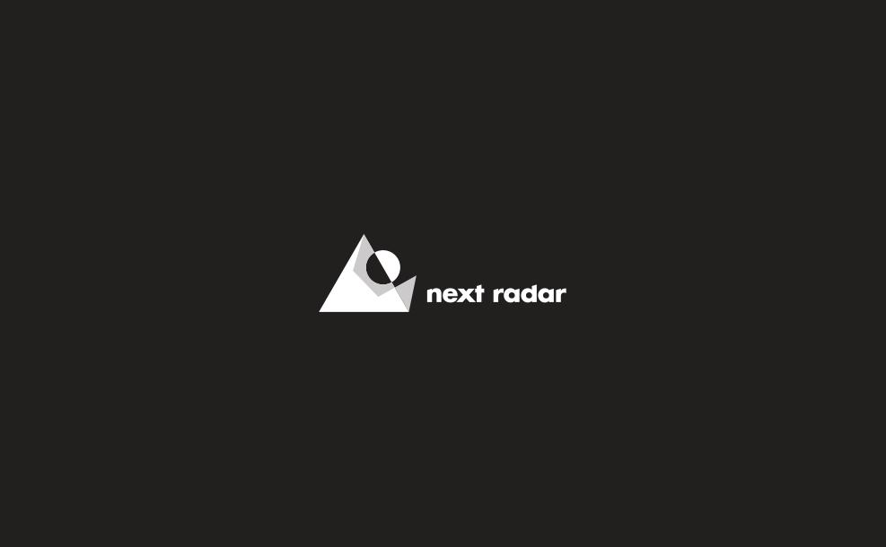 next radar black and white logo treatment.