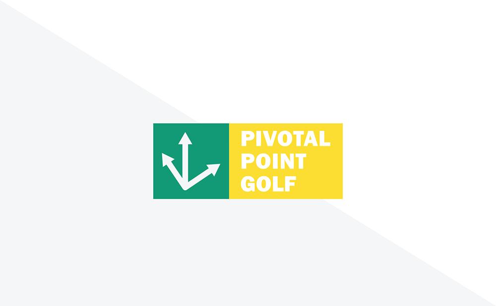 Pivotal Point Golf Tag Logo Mark Lock-up
