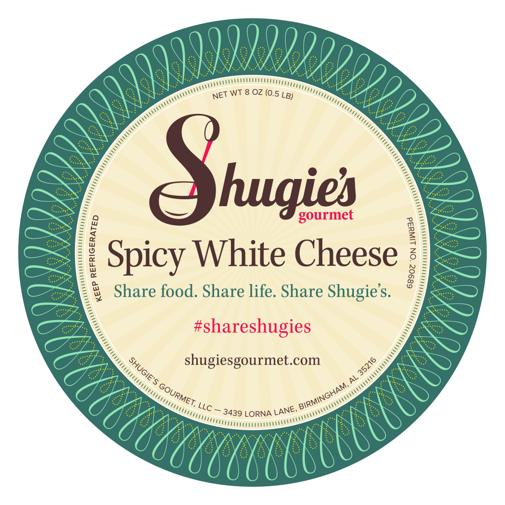 Shugie's Spicy White Cheese Label