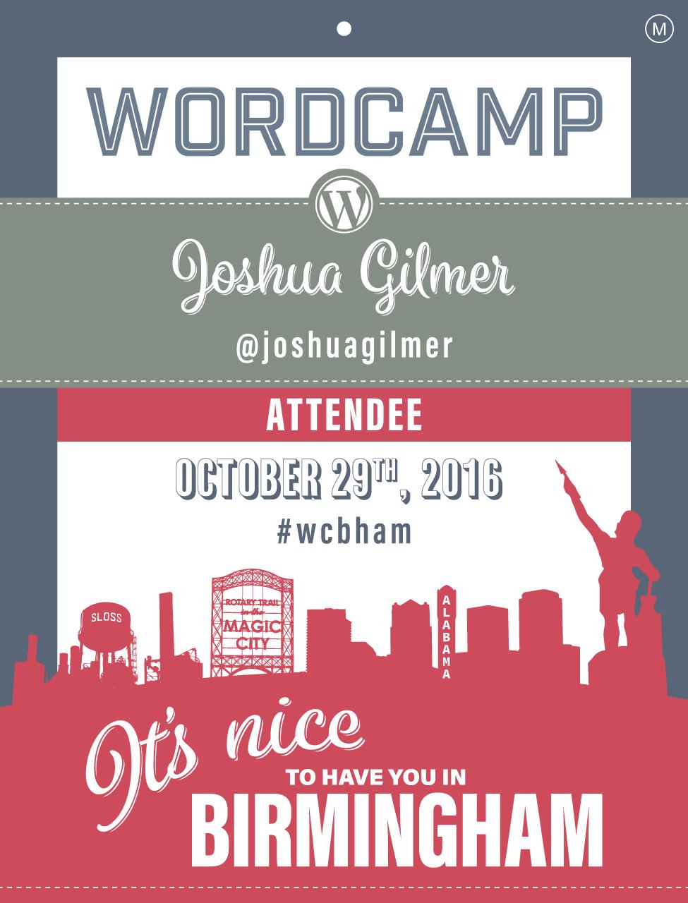 WordCamp Attendee Badge
