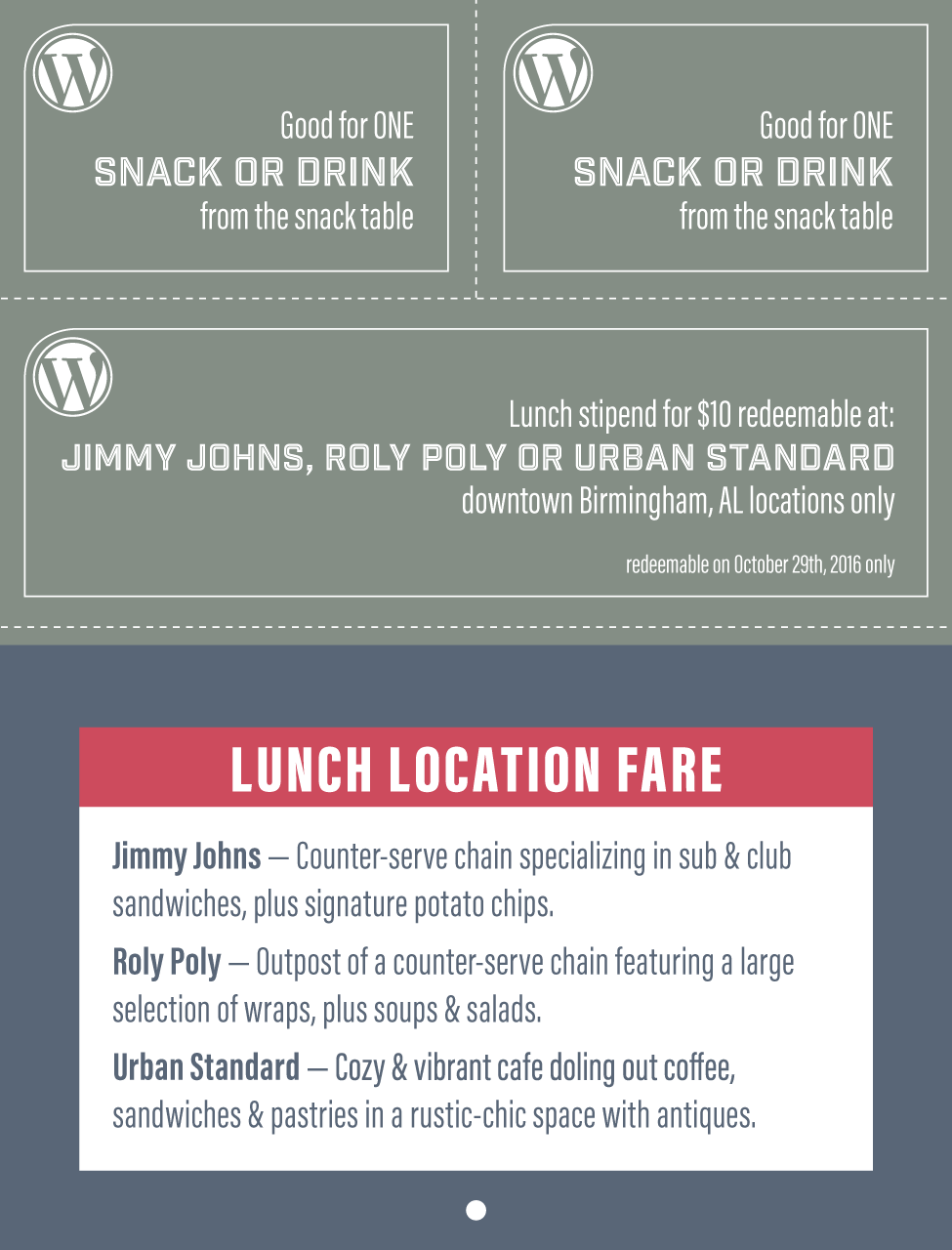 WordCamp Lunches