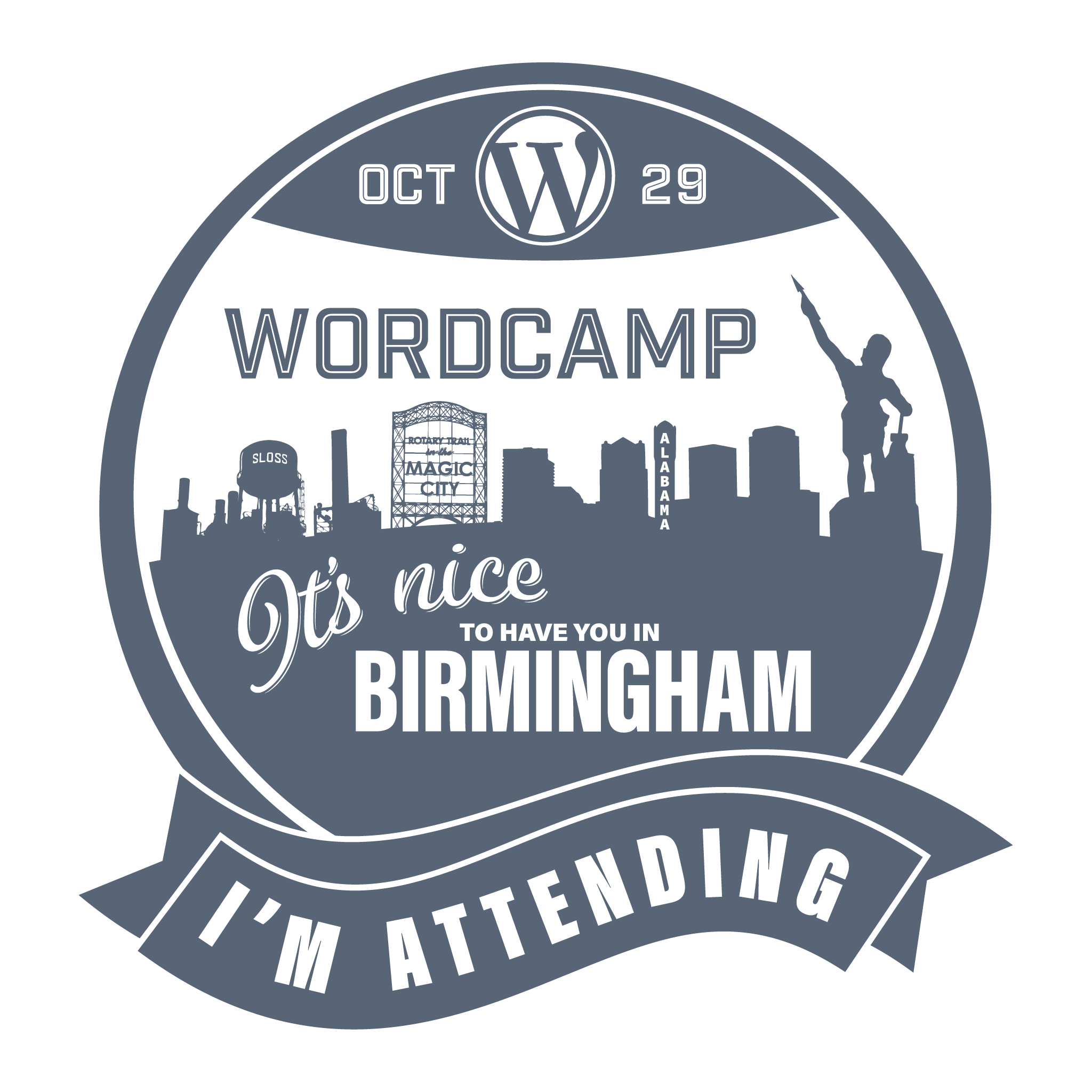 WordCamp Attending Sticker
