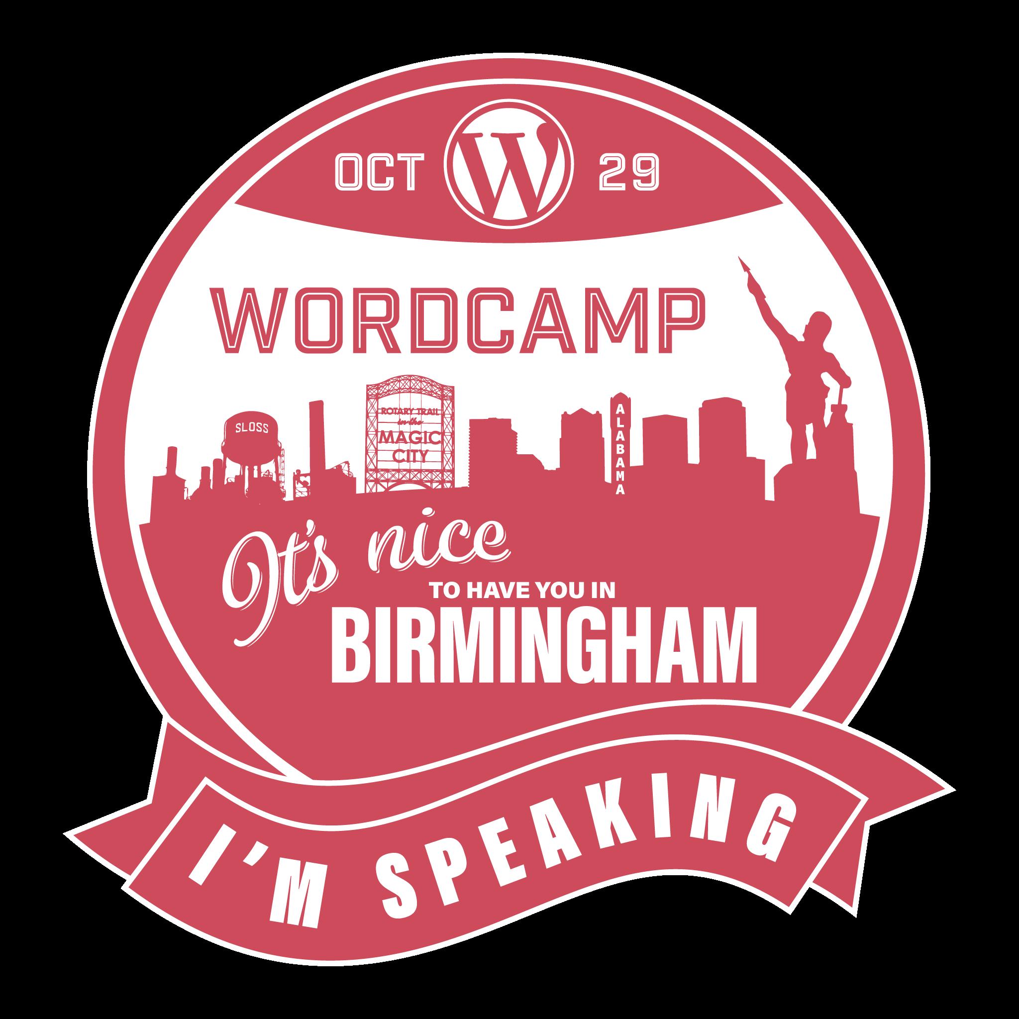 WordCamp Speaking Sticker