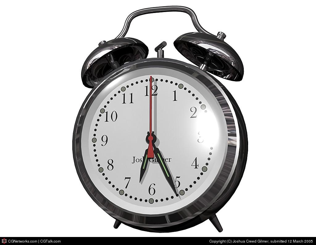 A shiny chrome clock