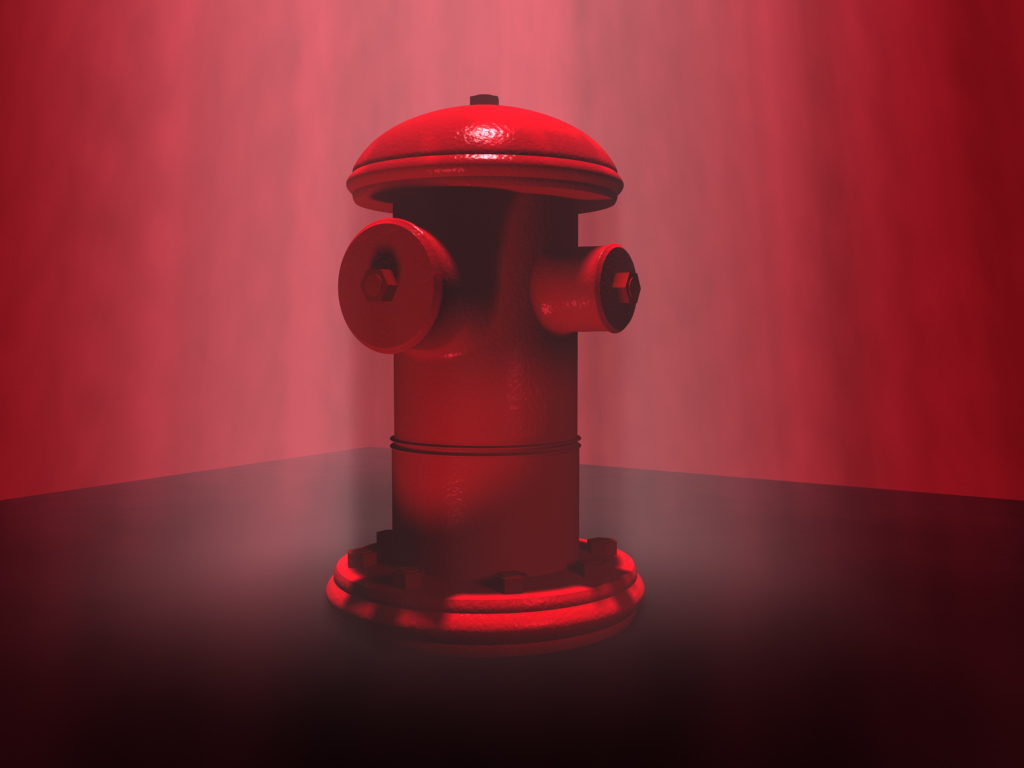 A red fire hydrant
