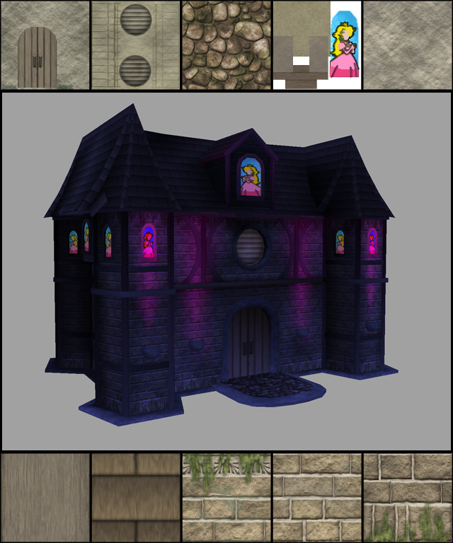 Minimized resources for a lightweight game level castle