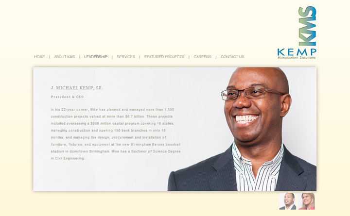 Kemp Management Solutions - Leadership Page